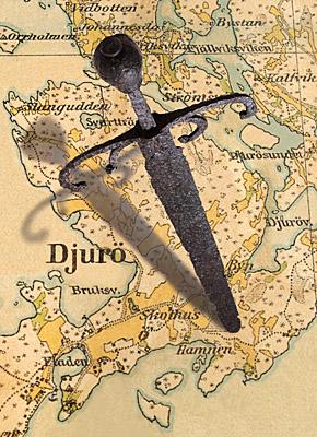 djurhamn sword map Unikátní nález: 500 let starý meč z Djurhamnu
