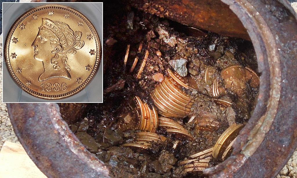10M poklad11 Mince v ceně 10 milionů dolarů nalezl pár na procházce se psem
