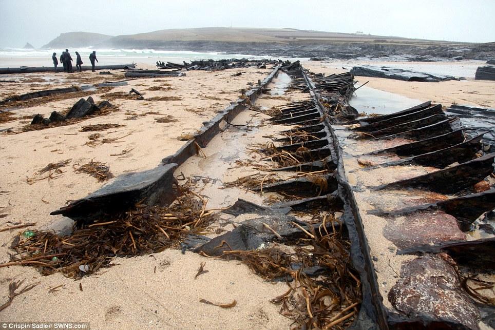 vrak lodi wwi 1 Vrak lodi odhalen bouří v britské Boobys Bay