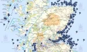 mapa vraku skotska 300x180 Mapa vraků lodí a letadel za posledních 1200 let