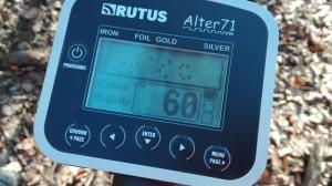 rutus alter displej 300x168 Recenze detektoru kovů Rutus Alter 71