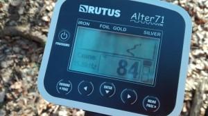 rutus alter displej2 300x168 Recenze detektoru kovů Rutus Alter 71